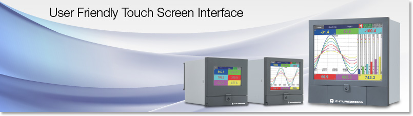 Paperless Recorders PR Series Touch screen